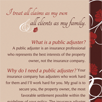 Michelle Murphy Public Adjuster Brochure - Back